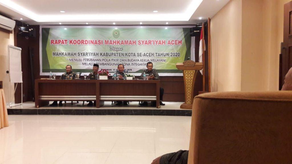 Rapat Koordinasi Mahkamah Syar'iyah Aceh dengan Mahkamah Syar'iyah Kabupaten/Kota Se Aceh Tahun 2020 | (17/2)