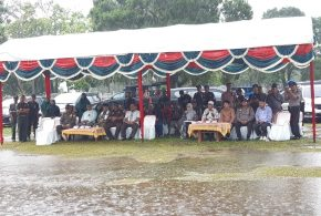 Ketua Mahkamh Syar'iyah Jantho menghadiri acara Eksekusi Hukuman cambuk perdana di Tahun 2020