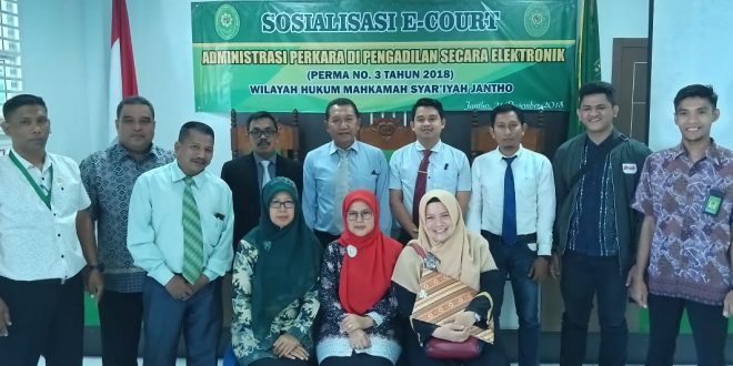 Sosialisasi Aplikasi e-Court Bagi Advokad Pada Mahkamah Syar'iyah Jantho